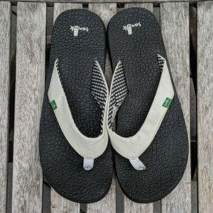 Sanuk Vegan Leather Thong Flip Flop Sandals